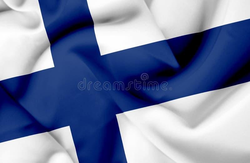 Drapeau de ondulation de la Finlande illustration stock