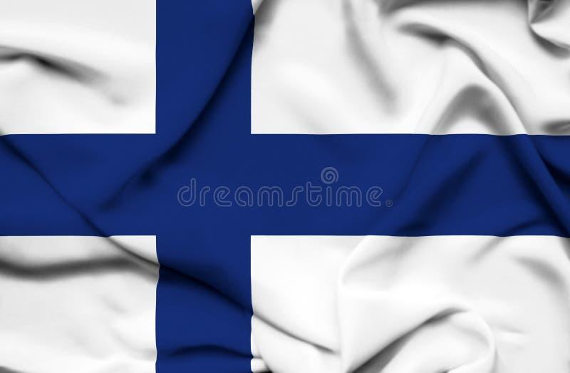 Drapeau de ondulation de la Finlande illustration libre de droits