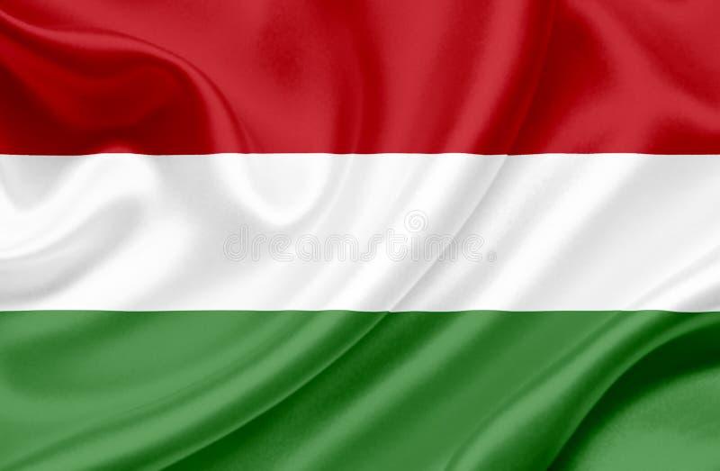 Drapeau de ondulation de la Hongrie illustration de vecteur