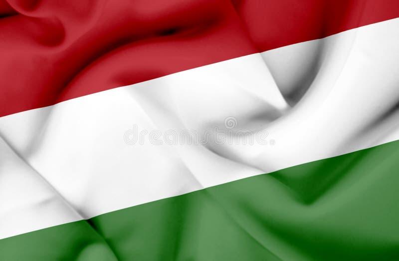 Drapeau de ondulation de la Hongrie illustration stock