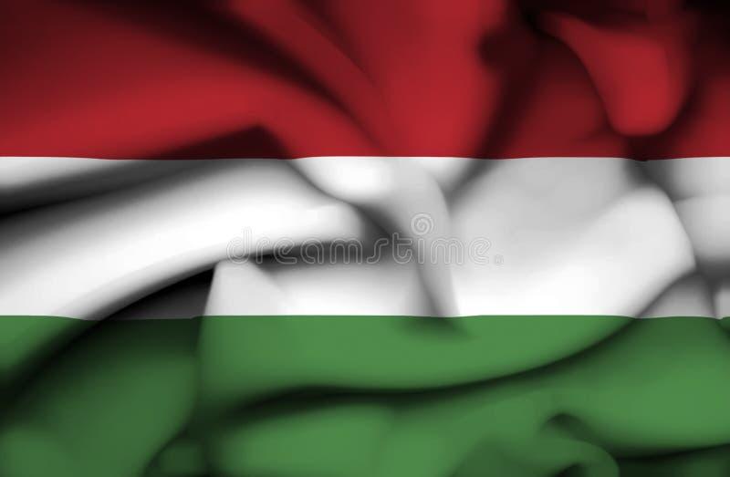 Drapeau de ondulation de la Hongrie illustration libre de droits