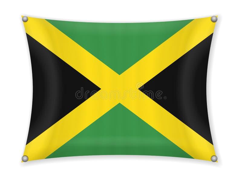 Drapeau de ondulation de la Jamaïque illustration de vecteur