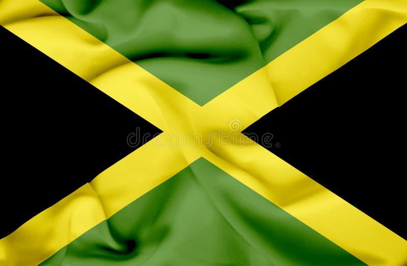 Drapeau de ondulation de la Jama?que illustration libre de droits