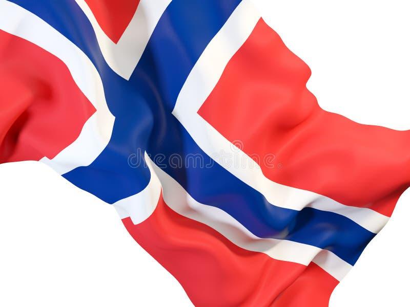 Drapeau de ondulation de la Norvège illustration stock