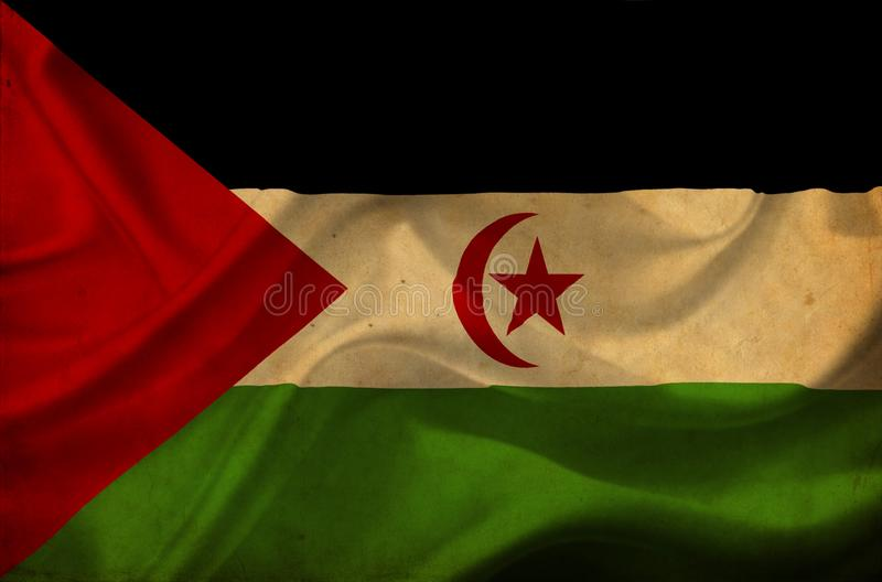 Drapeau de ondulation de la Sahara occidental illustration de vecteur
