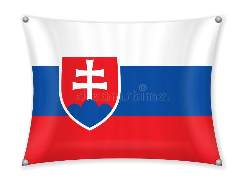 Drapeau de ondulation de la Slovaquie illustration de vecteur