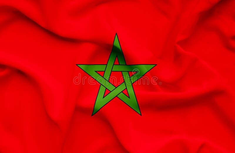 Drapeau de ondulation de Marocco illustration stock