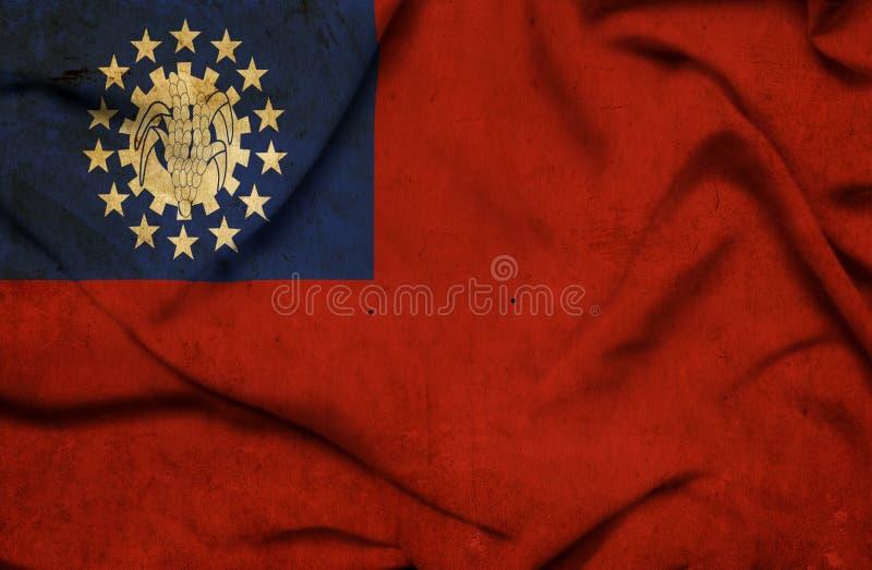 Drapeau de ondulation de Myanmar illustration libre de droits