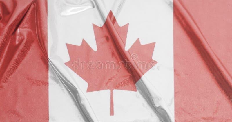 Drapeau de ondulation ondulé de Canada photo libre de droits