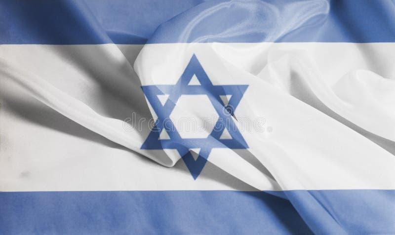 Drapeau de ondulation ondulé de l'Israël photographie stock libre de droits