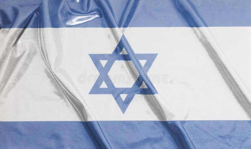 Drapeau de ondulation ondulé de l'Israël images libres de droits