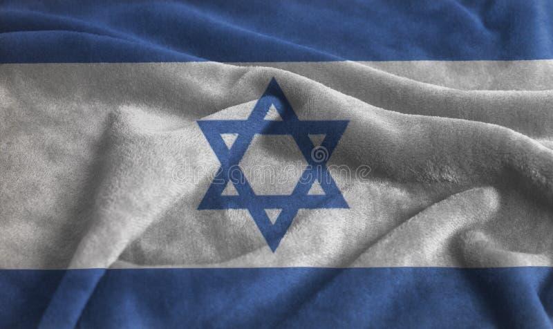 Drapeau de ondulation ondulé de l'Israël photos libres de droits