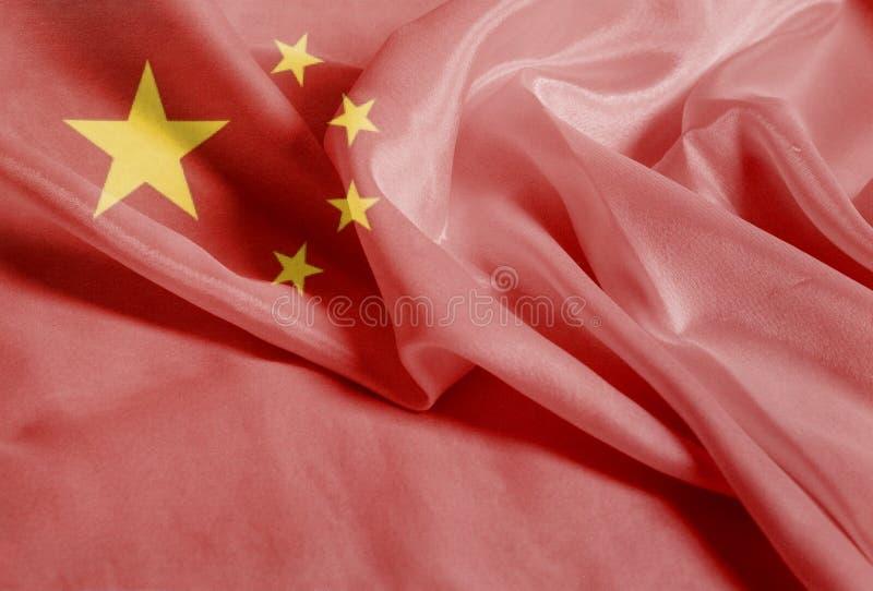 Drapeau de ondulation ondulé de la Chine photo stock