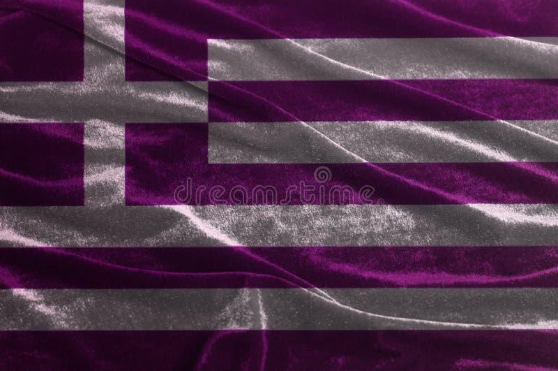 Drapeau de ondulation ondulé de la Grèce photos libres de droits