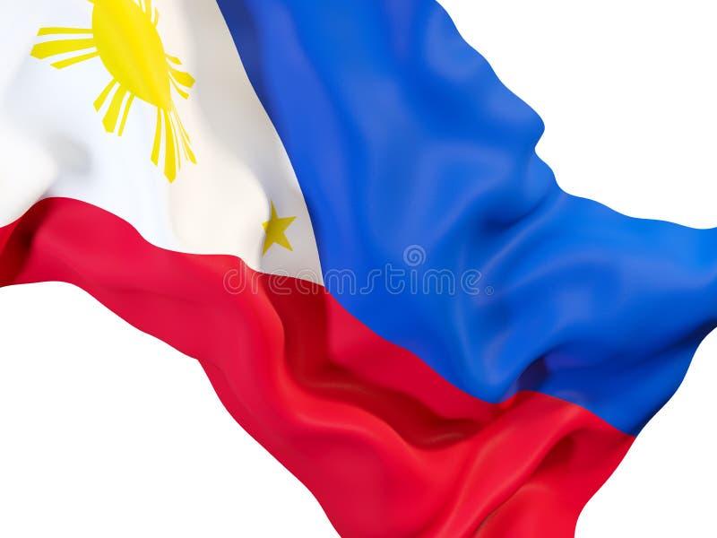 Drapeau de ondulation de Philippines illustration stock