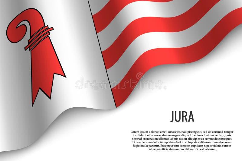 drapeau de ondulation de région Suisse illustration de vecteur