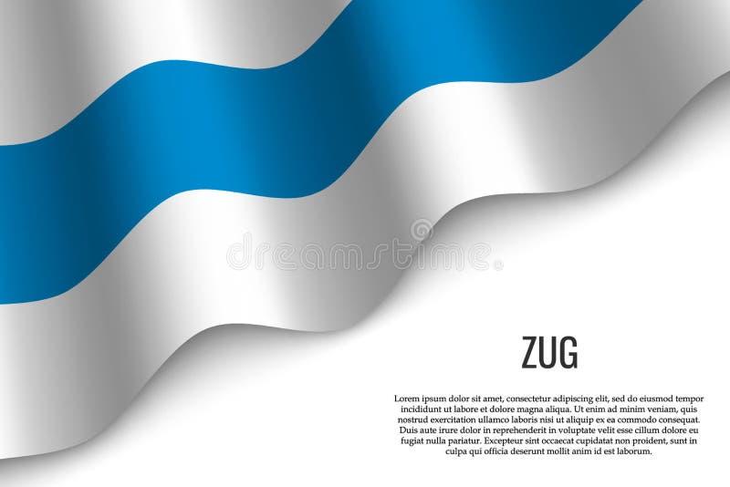 drapeau de ondulation de région Suisse illustration libre de droits