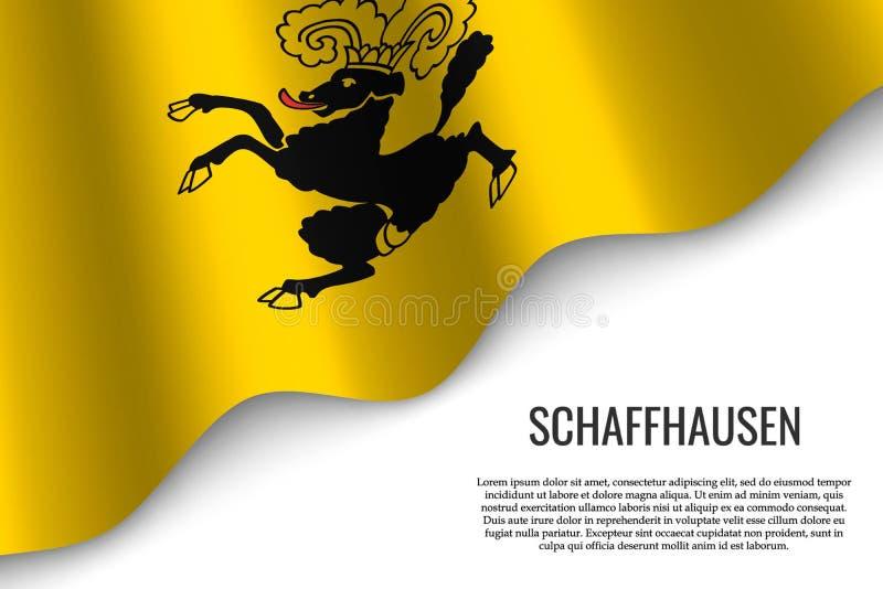 drapeau de ondulation de région Suisse illustration stock