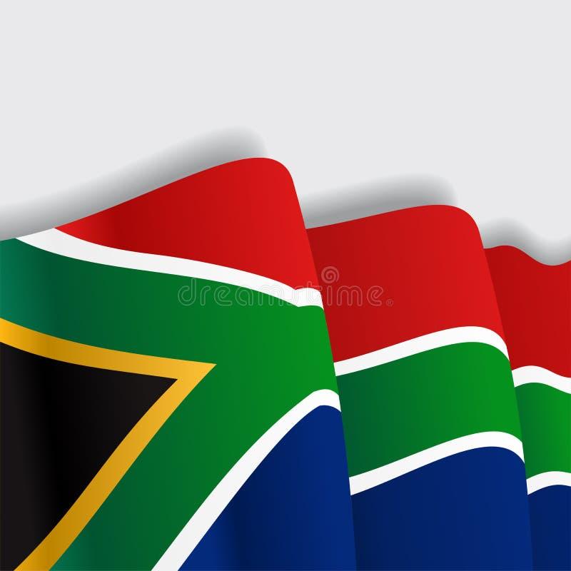 Drapeau de ondulation sud-africain Illustration de vecteur illustration de vecteur