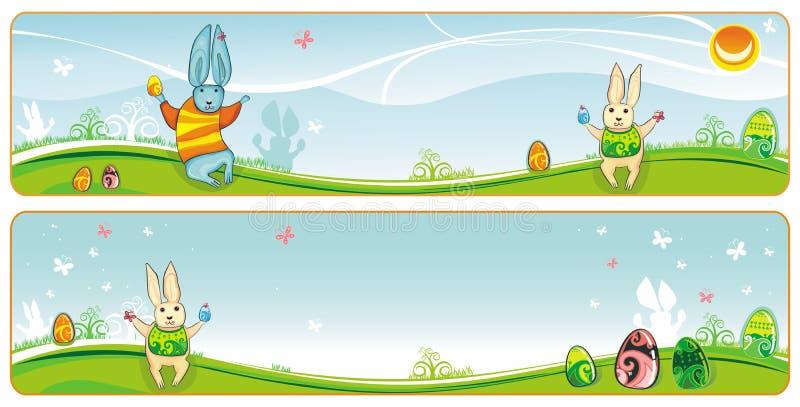 Drapeau de Pâques illustration libre de droits