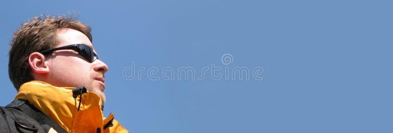 Drapeau de panorama - visibilité image libre de droits