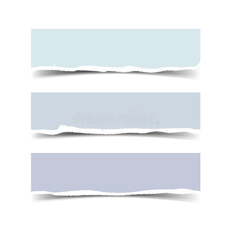 Drapeau de papier déchiré illustration de vecteur