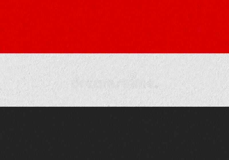 Drapeau de papier du Yémen illustration de vecteur