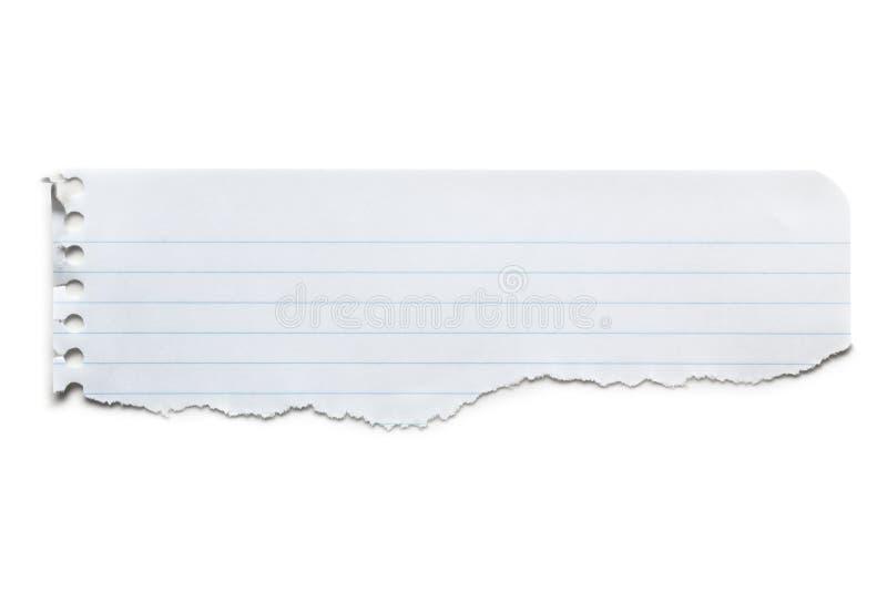 Drapeau de papier rayé déchiré d'isolement photo stock