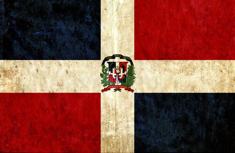 Drapeau de papier sale de la République Dominicaine  illustration libre de droits