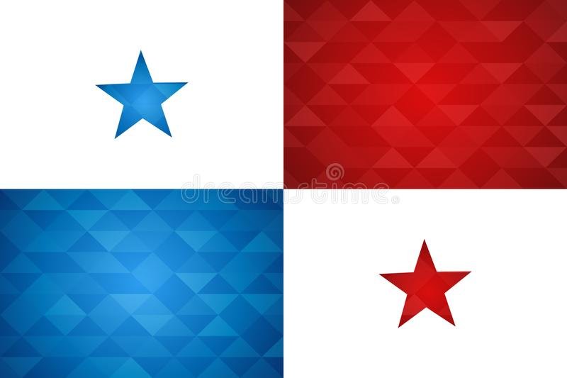 Drapeau de pays du Panama de nation panaméenne illustration libre de droits