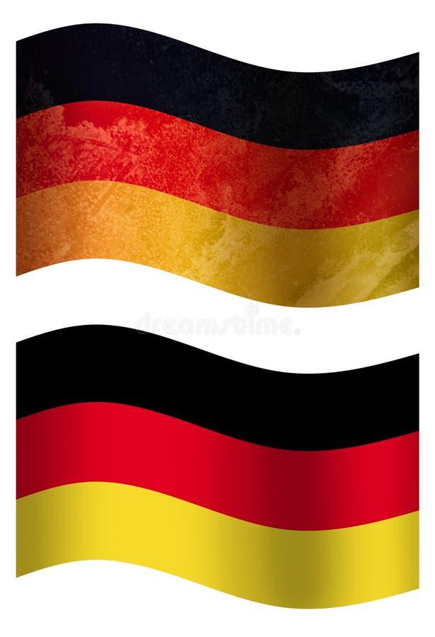 Drapeau de pays de l'Allemagne 3D, deux styles illustration de vecteur