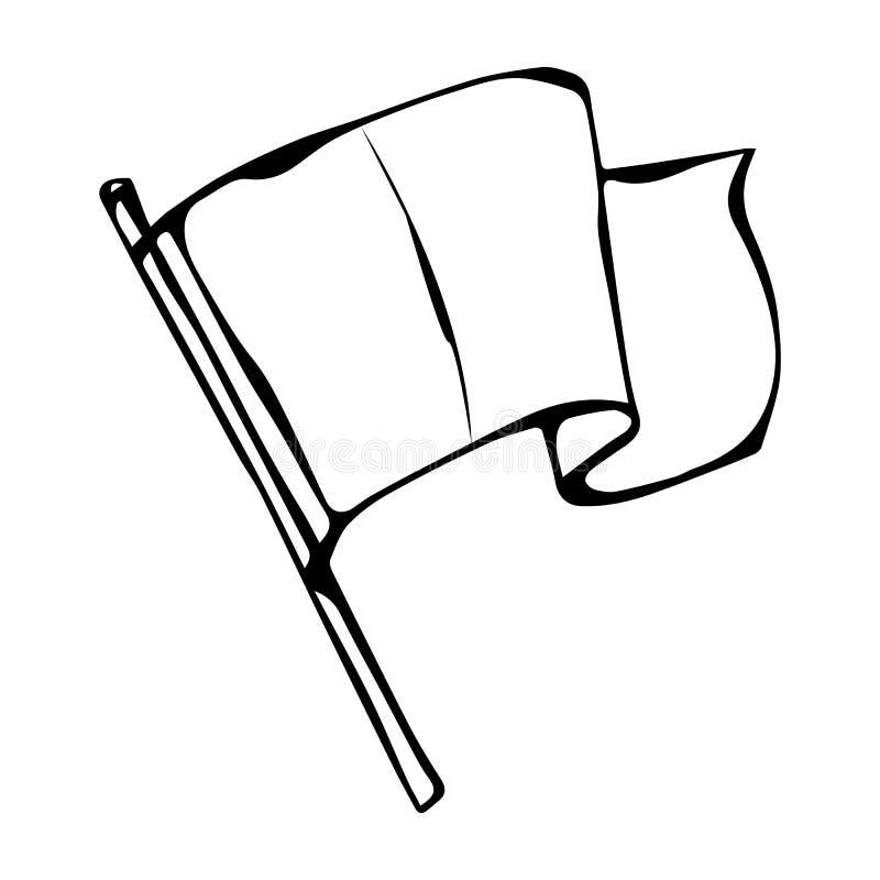 Drapeau de pays de l'Irlande Illustration irlandaise de vecteur de jour de Patricks de saint tirée par la main Griffonnage de sty illustration stock