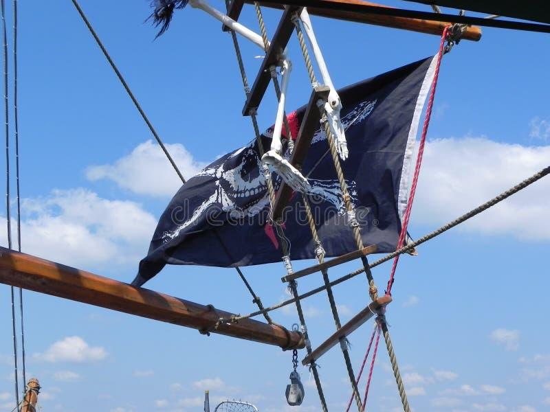 Drapeau de pirate image stock