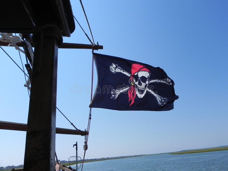 Drapeau de pirate photographie stock