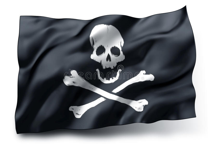 Drapeau de pirate Jolly Roger illustration stock
