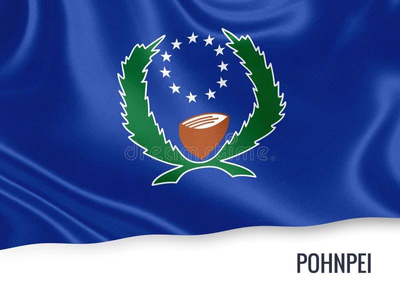 Drapeau de Pohnpei d'état des Etats fédérés de Micronésie illustration de vecteur