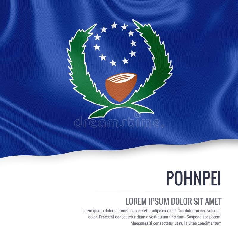 Drapeau de Pohnpei Drapeau d'état Pohnp des Etats fédérés de Micronésie illustration stock