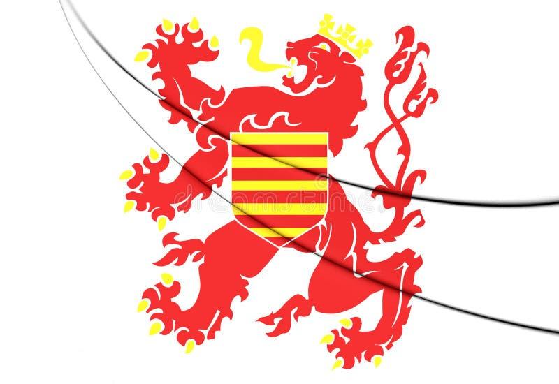Drapeau de province de Limbourg, Belgique illustration stock