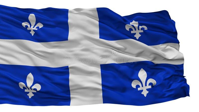 Drapeau de Québec, Canada, d'isolement sur le fond blanc illustration stock