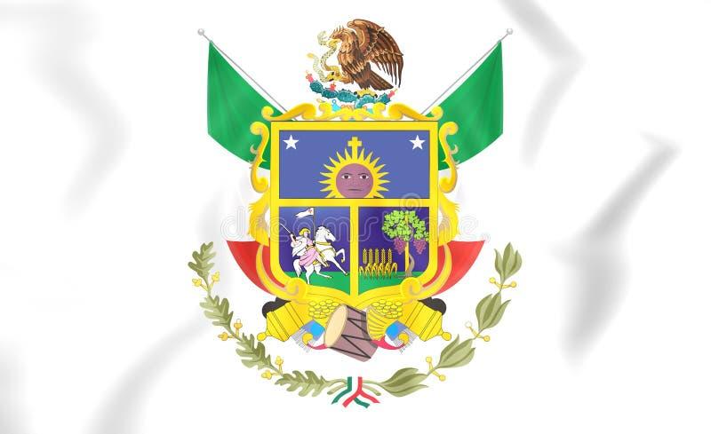 Drapeau de Queretaro, Mexique illustration libre de droits