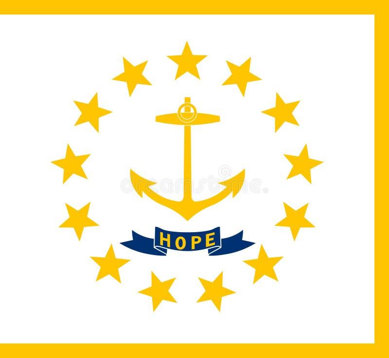 Drapeau de Rhode Island State Illustration de vecteur illustration de vecteur