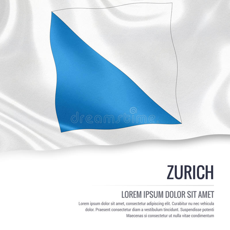 Drapeau de riches de ¼ de l'état ZÃ de la Suisse illustration libre de droits