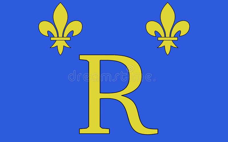 Drapeau de Riom, France images libres de droits