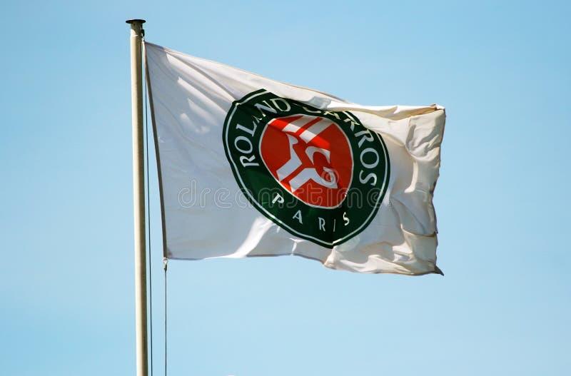 Drapeau de Roland Garros photos libres de droits