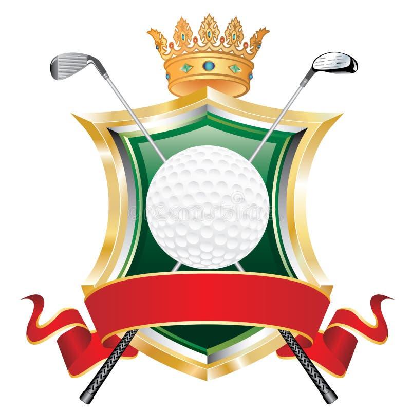 Drapeau de rouge de golf illustration de vecteur