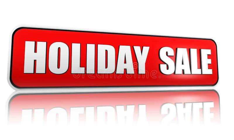 Drapeau de rouge de vente de vacances illustration de vecteur