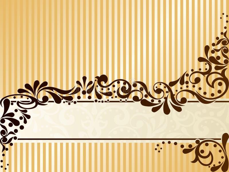 Drapeau de sépia de cru, horizontal illustration stock