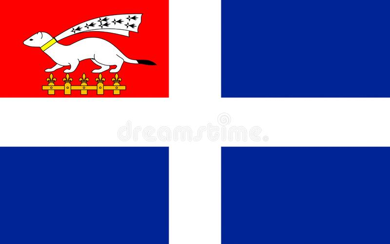 Drapeau de Saint Malo, France image libre de droits