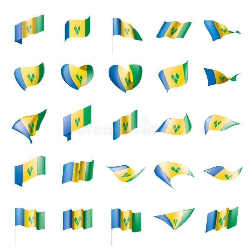 Drapeau de Saint-Vincent-et-les-Grenadines illustration libre de droits