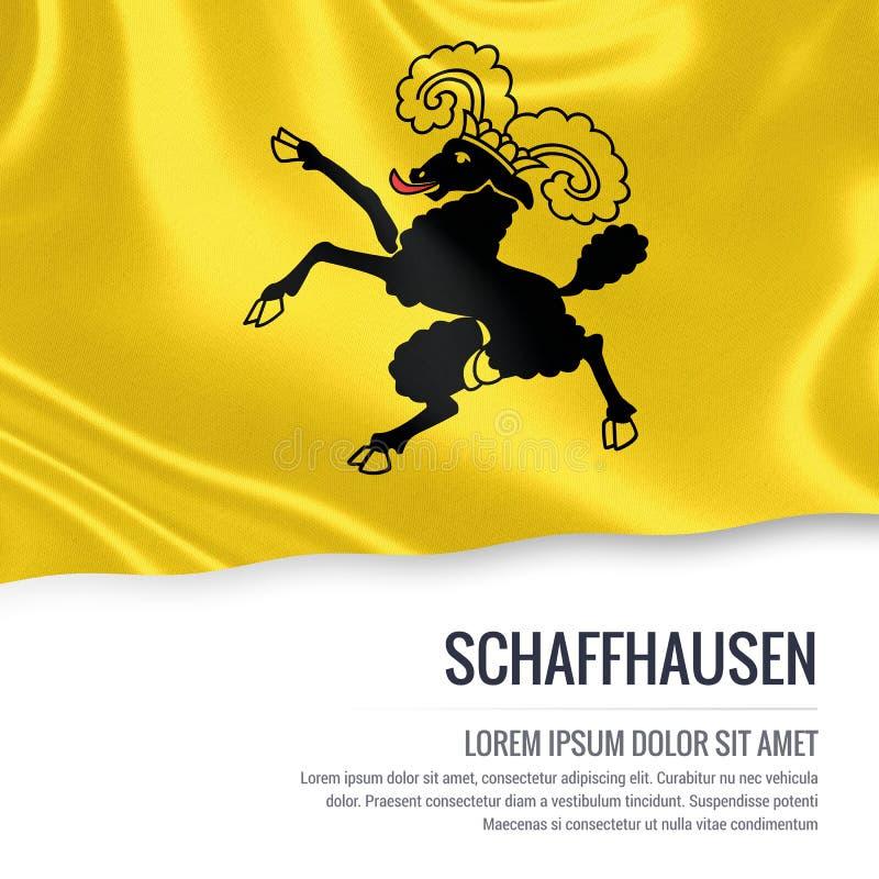 Drapeau de Schaffhausen d'état de la Suisse illustration stock